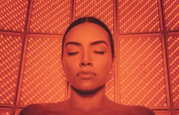 Woman Receiving LED Light Therapy Beverly Hills