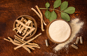 natural medicines and dried and powdered herbs