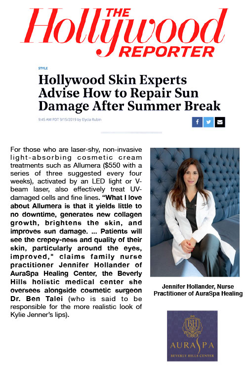Screenshot of the Article - Hollywood Skin Experts Advise How to Repair Sun Damage After Summer Break