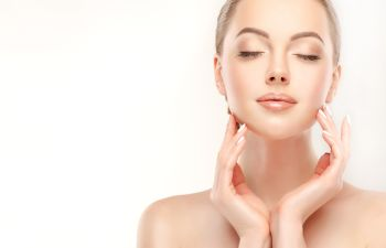 Youthful face of a woman after anti-aging treatments in Beverly Hills CA,