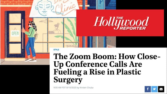 Screenshot of the Article - The Zoom Boom: How Close-Up Conference Calls Are Fueling a Rise in Plastic Surgery